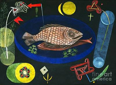 Painting - Around The Fish by Pg Reproductions