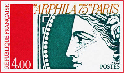 Retro Look Painting - Arphila 75 Paris  1 by Lanjee Chee