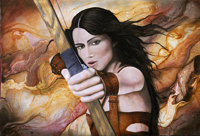 Sonora Painting - Arquera by Angel Ortiz