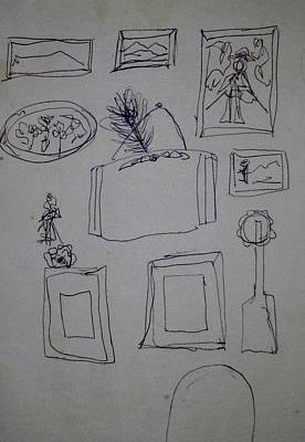 Drawing - Arrangement by Erika Chamberlin