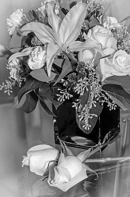 Photograph - Arrangement In Black And White  by Susan  McMenamin