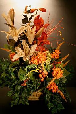 Arrangement Of Flowers Art Print