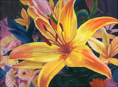 Painting - Arranging Lily by Lynne Reichhart
