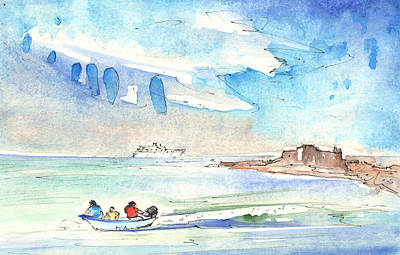 Impressionism Drawings - Arrecife in Lanzarote 06 by Miki De Goodaboom