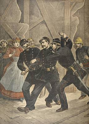 Arrest Of A Town Sergent, Illustration Art Print by French School