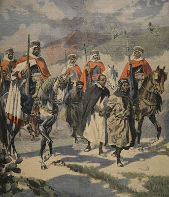 Arrest Of The Assassins Of Mores Art Print by French School