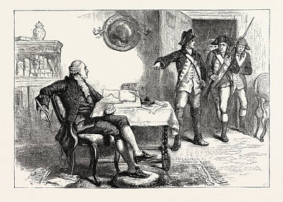 Franklin Drawing - Arrest Of William Franklin He Was A British American Soldier by English School