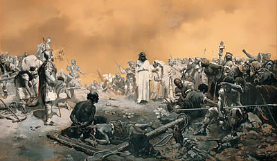 Christian Artwork Painting - Arrival At Calvary by Mountain Dreams
