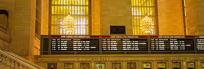 Grand Central Station Photograph - Arrival Departure Board In A Station by Panoramic Images