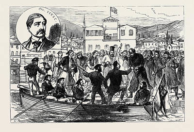 Raiders Drawing - Arrival Of Colonel Synge At Salonica After His Release by English School
