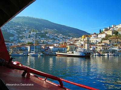 Hydra Island Photograph - Arriving At Hydra by Alexandros Daskalakis