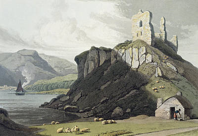 Sheep Drawing - Arros Castle, Isle Of Mull by William Daniell