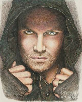 Dc Comics Drawing - Arrow / Stephen Amell Muted by Christine Jepsen