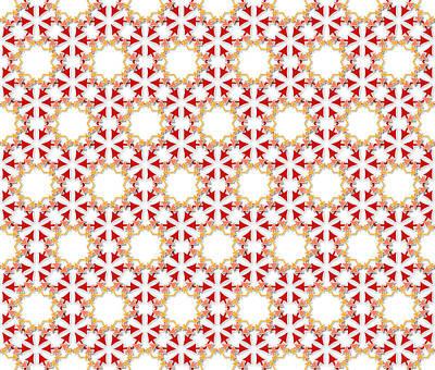 Chaos Maze Digital Art - Arrows Flowers Pattern by Jozef Jankola