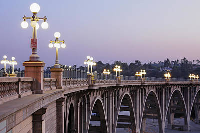 Architecture Photograph - Arroyo Seco Bridge Pasadena by S. Greg Panosian