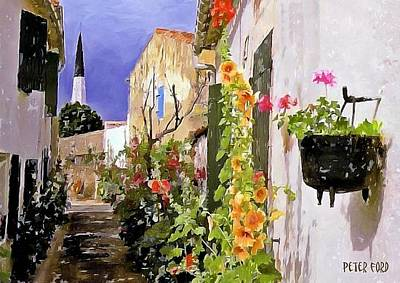 Charente Maritime Painting - Ars-en-re by Peter Ford