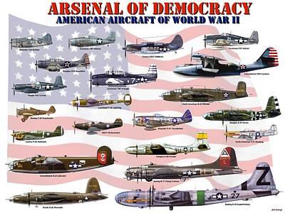 Superfortress Digital Art - Arsenal Of Democracy by Mil Merchant