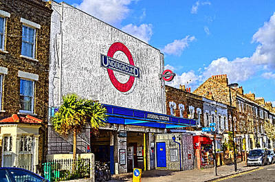 London Tube Mixed Media - Arsenal Tube Station London by Peter Allen