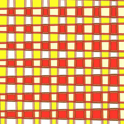 Mixed Media - Art 1903 Elegant Graphic Pattern Squares Colorful Digitalart Graphicart Surface Texture Design Multi by Navin Joshi