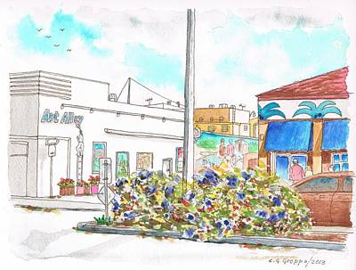 Art Alley In Lompoc - California Art Print