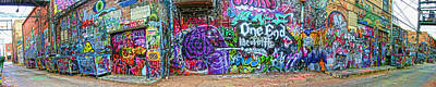 Art Alley Panorama Art Print