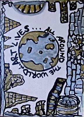 Tony B. Conscious Painting - Art Around The World by Tony B Conscious