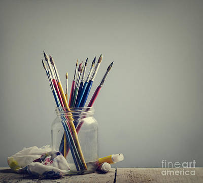Water Jars Photograph - Art Brushes by Jelena Jovanovic