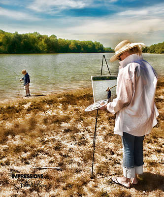 Photograph - Art By The Lake by Trudy Wilkerson