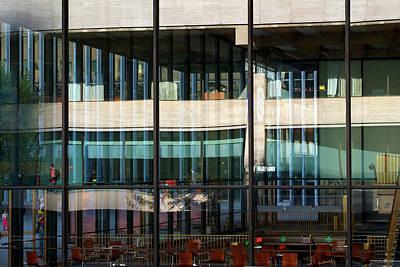 Photograph - Art Center In Reflection by Cornelis Verwaal