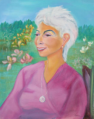 Painting - Art Collector And Connoiseur Of Life by Asha Carolyn Young