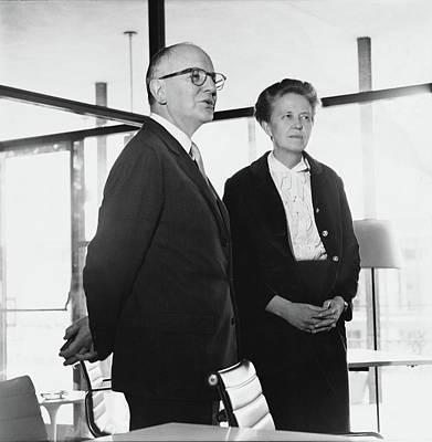 Art Collectors John And Dominique De Menil Art Print