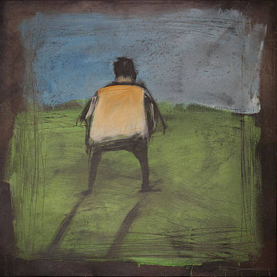 Cartoon Painting - art critic relieves himself on Rothko's field by Tim Nyberg