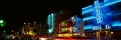 Lodging Photograph - Art Deco Architecture Miami Beach Fl by Panoramic Images