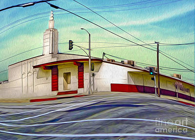 Painting - Art Deco Building - Pomona Ca by Gregory Dyer
