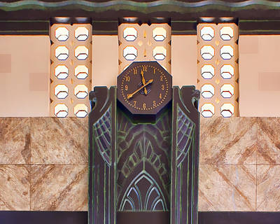 Photograph - Art Deco Clock by Nikolyn McDonald