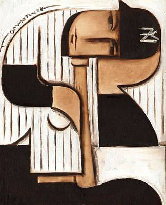 Painting - Art Deco Derek Jeter by Tommervik