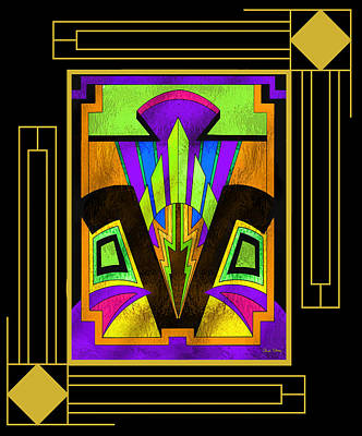 Art Deco - Design 5 B Mat Art Print