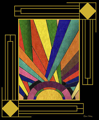 Digital Art - Art Deco Design With Mat by Chuck Staley