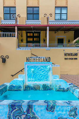 Netherland Photograph - Art Deco Detail Netherland South Beach Miami by Ian Monk