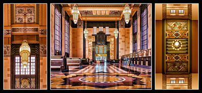Photograph - Art Deco Durham Triptych #1 by Nikolyn McDonald