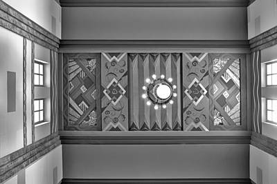 Photograph - Art Deco East Anteroom - Bw by Nikolyn McDonald