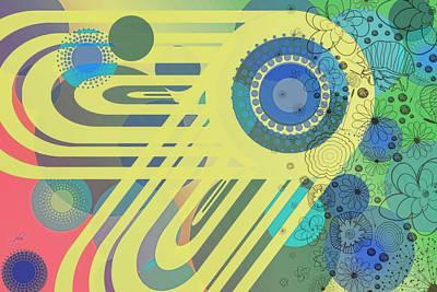 Digital Art - Art Deco Explosion 11 by Paulette B Wright