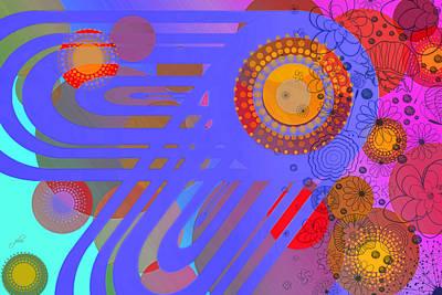 Digital Art - Art Deco Explosion 13 by Paulette B Wright