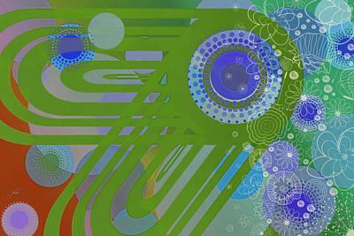 Digital Art - Art Deco Explosion 2 by Paulette B Wright