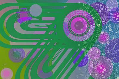 Digital Art - Art Deco Explosion 3 by Paulette B Wright