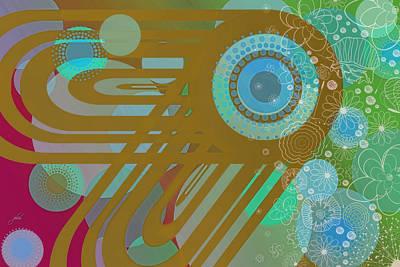 Digital Art - Art Deco Explosion 4 by Paulette B Wright