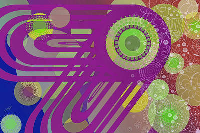 Digital Art - Art Deco Explosion 6 by Paulette B Wright