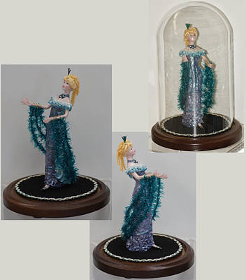 Ceramic Art - Art Deco Mannequin by Shirley Heyn