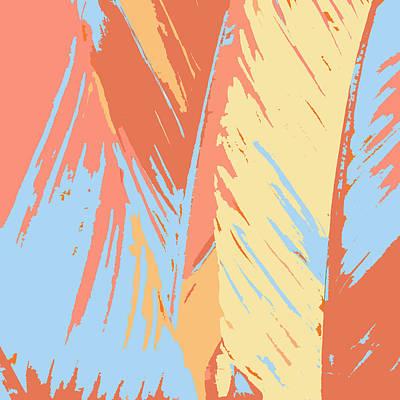 Art Deco Palms Art Print