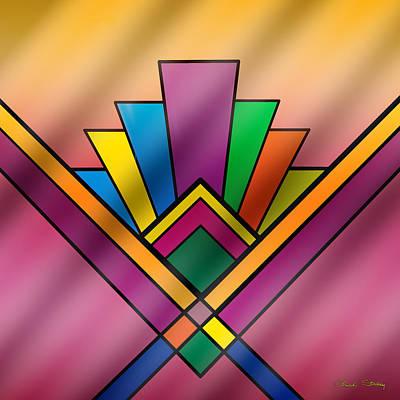 Digital Art - Art Deco Pattern 6 by Chuck Staley